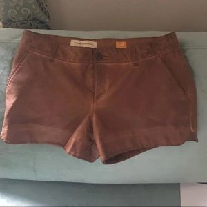 Leather shorts anthropology w 28